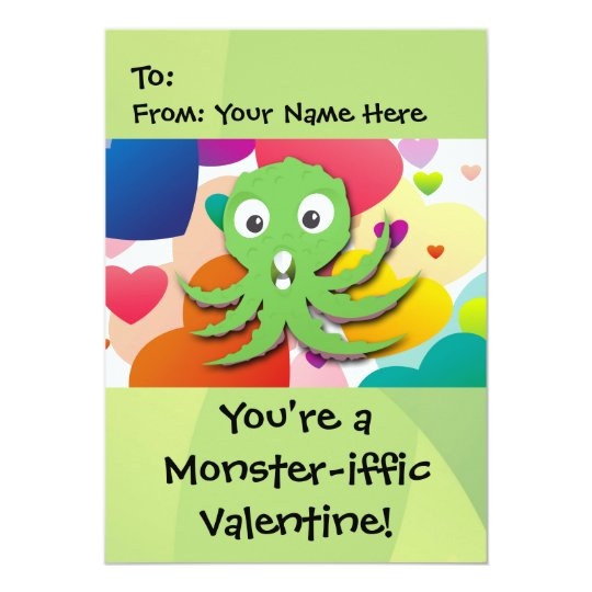 You're a Monster-iffic Valentine 5x7 Card