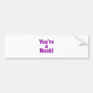 Youre a Noob Bumper Sticker