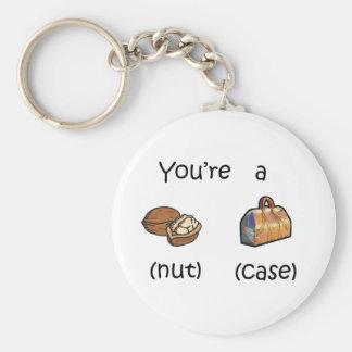 You're A Nut Case Basic Round Button Keychain