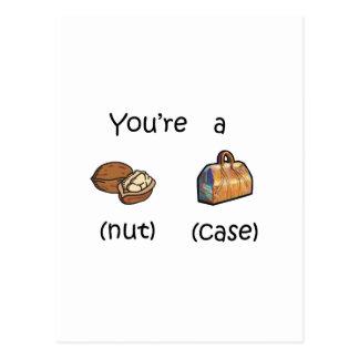 You're A Nut Case Postcard