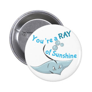 You're A Ray Of Sunshine 2 Inch Round Button