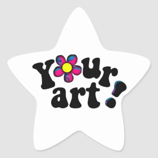 You're a Star! Create your own star shaped sticker