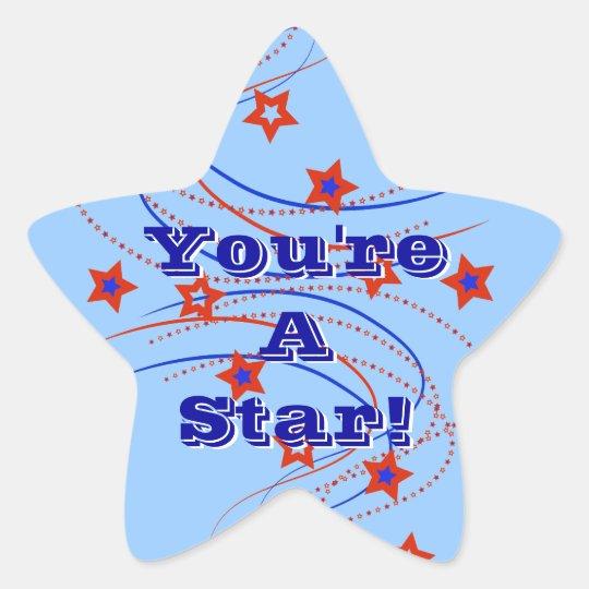 You're A Star! Fireworks & Stars Sticker Stars