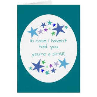 You're a Star, Fun Birthday Appreciation Card