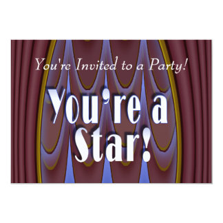 You're a Star! 5x7 Paper Invitation Card