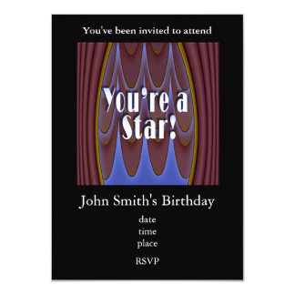 You're a Star! Personalized Invitations