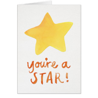 You're A Star Note Card