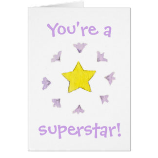 You're a Superstar birthday card