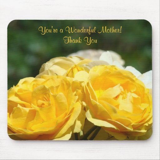 You Re Wonderful: You're A Wonderful Mother! Gift Thank You Mousepad