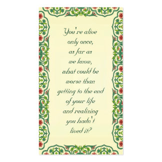 You're alive  only once,  as far as  we know what Double-Sided standard business cards (Pack of 100)