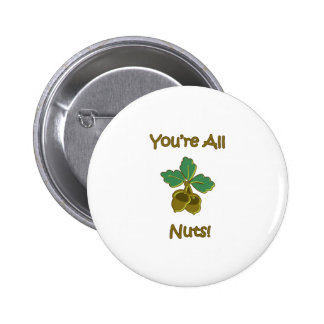 You're All Nuts Pinback Button
