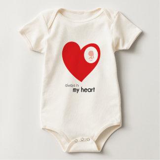 You're Always in My Heart Baby Bodysuit