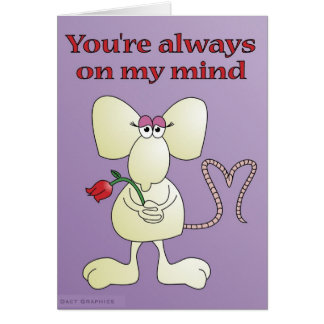 """You're always on my mind rat"" Card"