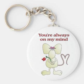 """You're always on my mind rat"" keychain"