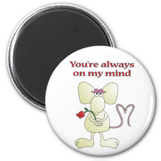 """""""You're always on my mind rat"""" magnet"""
