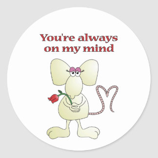 """You're always on my mind rat"" sticker"