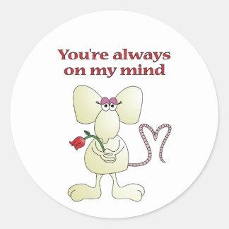 """""""You're always on my mind rat"""" sticker"""