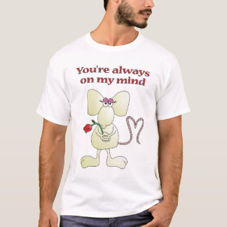 """You're always on my mind rat"" T-shirt"