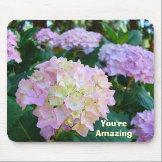 You're Amazing! mousepad gifts Pink Hydrangeas