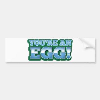 You're an EGG!  an awesome kiwi saying Car Bumper Sticker