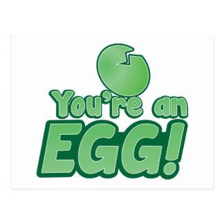 You're an EGG!  an awesome kiwi saying Postcard