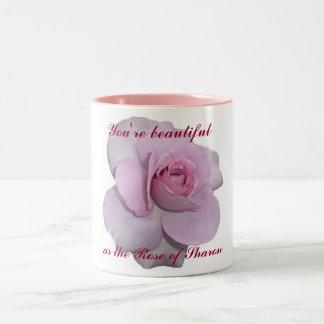 You're as Beautiful as the Rose of Sharon Two-Tone Coffee Mug