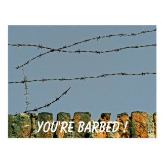 You're Barbed! Postcard