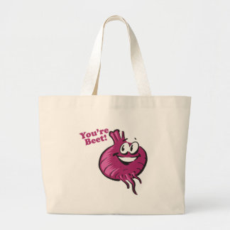 Youre Beat funny beet cartoon Canvas Bags
