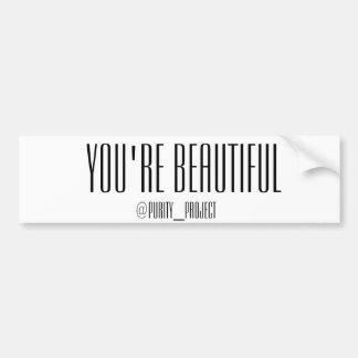 You're Beautiful Bumper Sticker