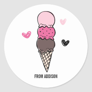 You're Cool Ice Cream Valentine's Day Sticker