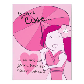 You're Cute (Sakura) - Pack of Valentines 4.25x5.5 Paper Invitation Card