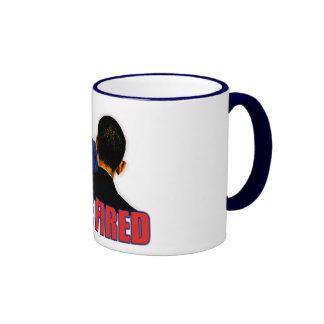 You're Fired! Anti Obama Design Ringer Coffee Mug