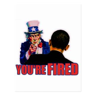You're Fired! Anti Obama Design Postcard