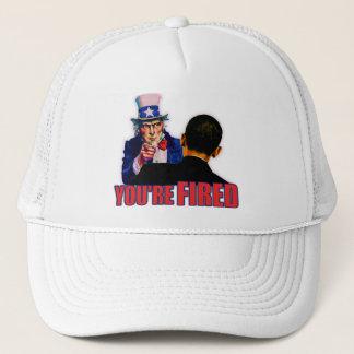 You're Fired! Anti Obama Design Trucker Hat
