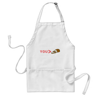 You're Greater Than Sliced Bread Funny Adult Apron