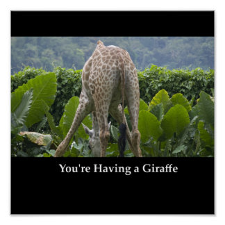 You're having a Giraffe Poster