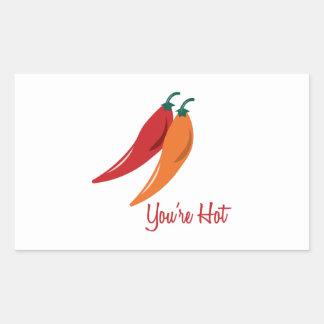 Youre Hot Rectangular Stickers