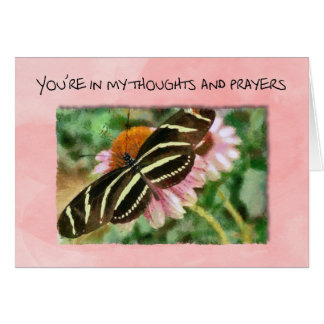 You're in my thoughts during cancer treatments card