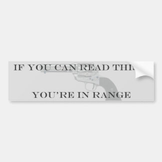 You're In Range Bumper Sticker