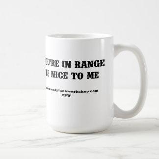 You're In Range Classic White Coffee Mug