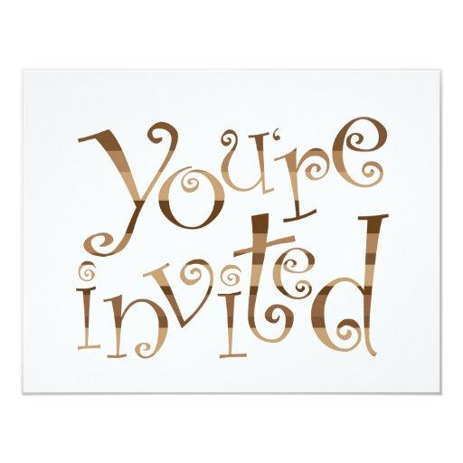 You're Invited! 4.25x5.5 Paper Invitation Card
