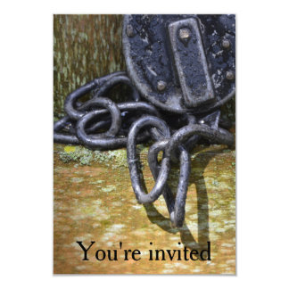 You're Invited Antique Lock & Chain Card
