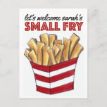 You're Invited Baby Shower Smally Fry French Fries Invitation Postcard