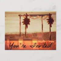 You're Invited Beach Wedding Invitation