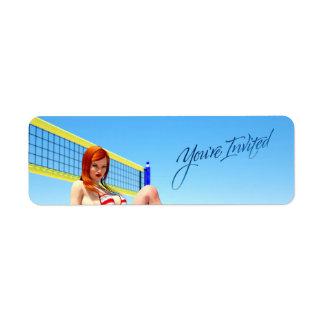 You're Invited Belle Return Address Label