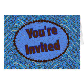 you're invited blue card