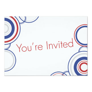 You're Invited - Blue & Red Circles Card