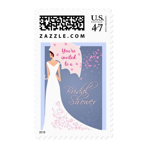 You're Invited Bridal Shower Postage Stamp