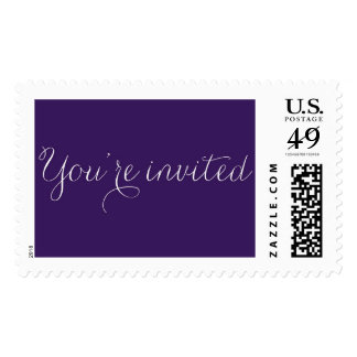 You're Invited Calligraphic Postage Stamps