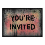 You're Invited Colorful Grunge Halloween Party 5x7 Paper Invitation Card